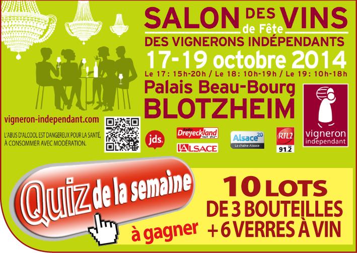 Salon des vins et des vignerons ind pendants blotzheim les r sultats du quizz - Salon vigneron independant ...