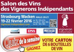 Salon des vignerons indépendants Strasbourg