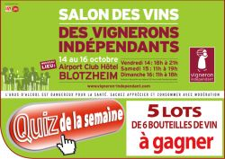 Salon des vignerons ind pendants de blotzheim les - Invitation salon des vignerons independants ...